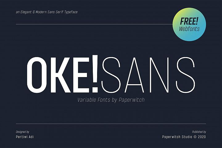 OKE! Sans Family with Variable Fonts