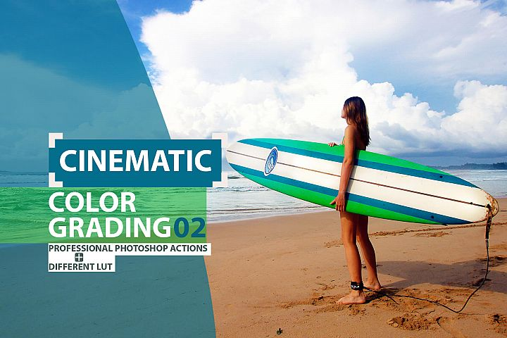 Cinematic Color Grading 02 Premium photoshop actions