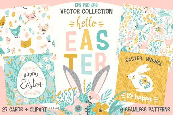 Hello Easter! Vector collection