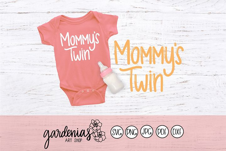 Mommys Twin Bubble Letters