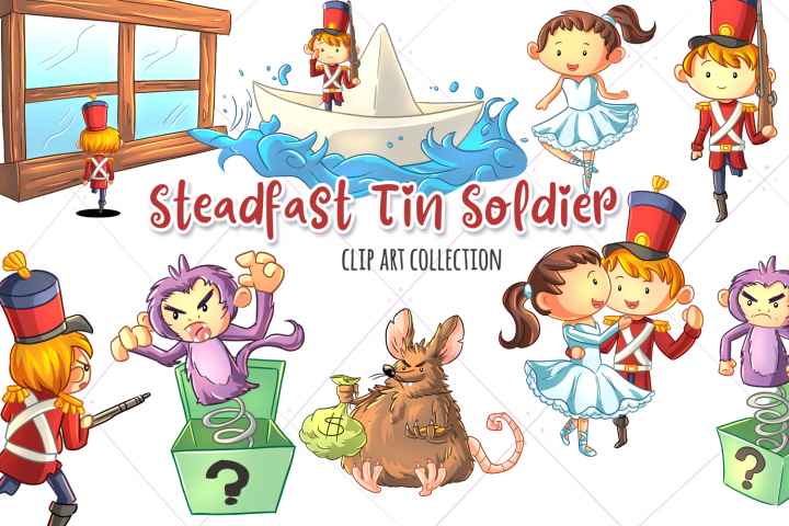 Steadfast Tin Solider Fairy Tale Clip Art Collection
