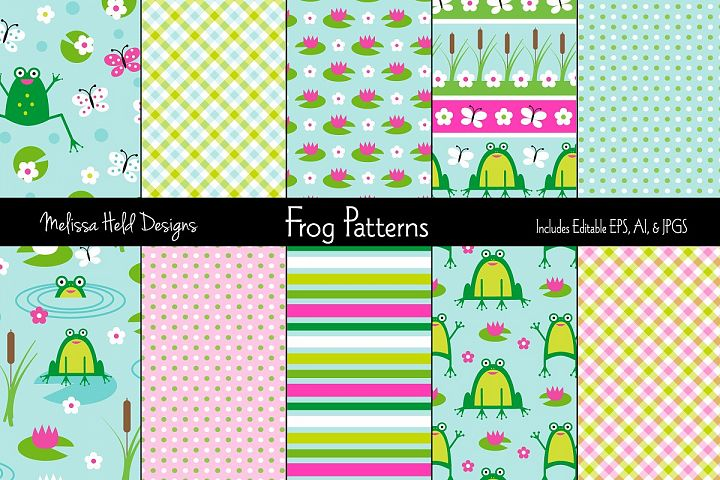 Cute Frog Patterns