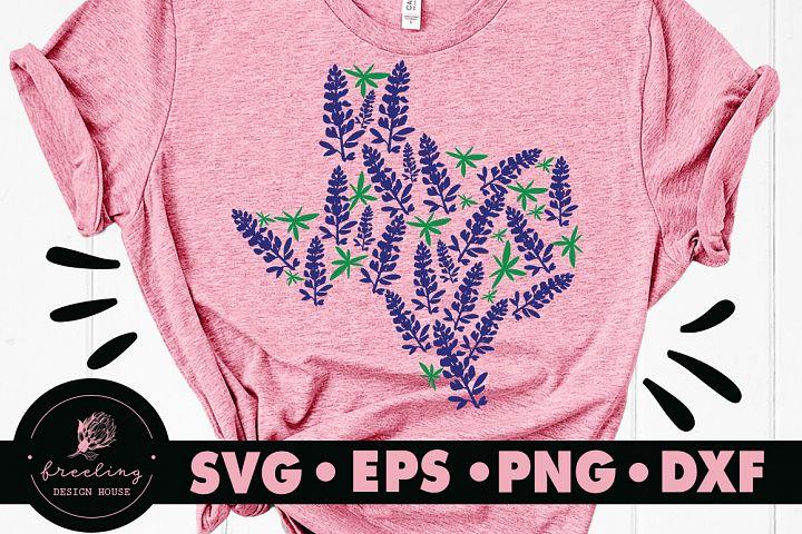 Texas Bluebonnet SVG DXF EPS PNG