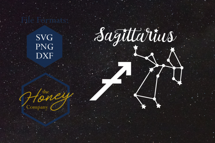 Sagittarius SVG PNG DXF Zodiac Cutting File Vector Download
