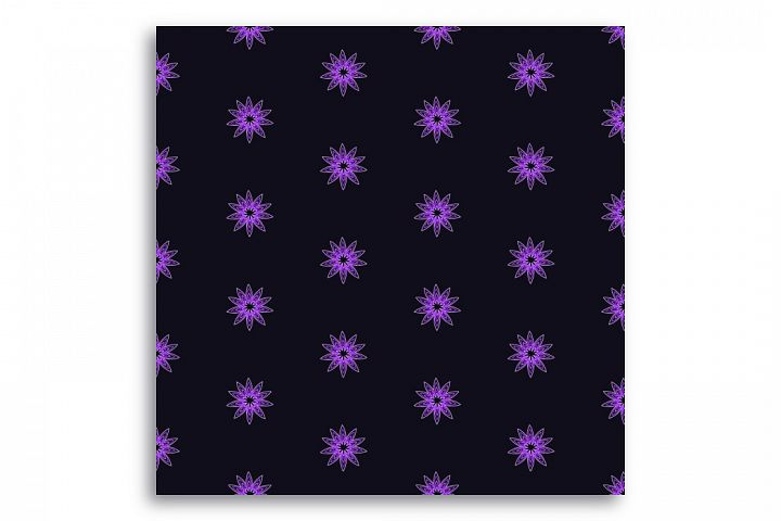 Seamless pattern Dark star sky