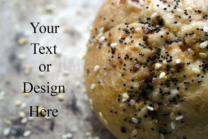 Bread Roll Close Up Photo With Copy Space