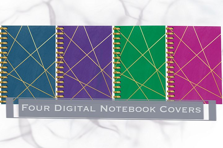 Four Digital Notebook/Planner Covers