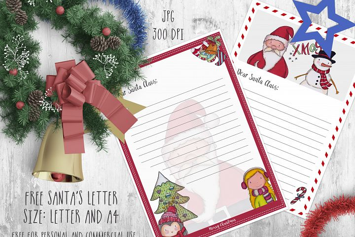 Santa's letter printable example 1
