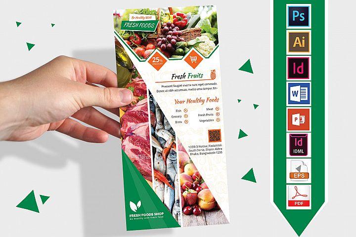 Rack Card | Fresh Food DL Flyer Vol-02