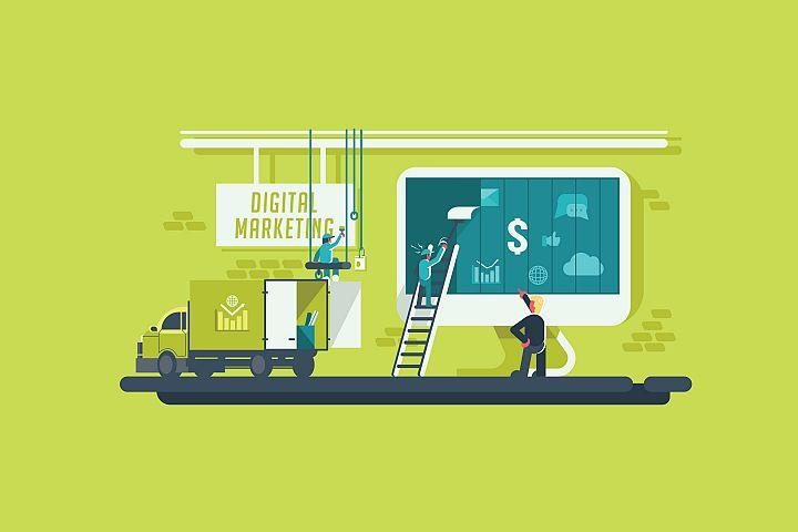 Digital Marketing - Vector Activity