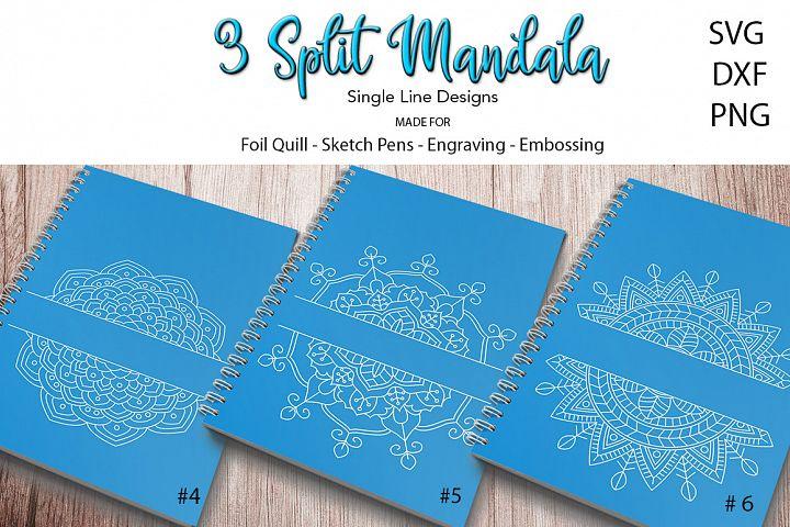3 Split Mandala SVG for Foil Quill