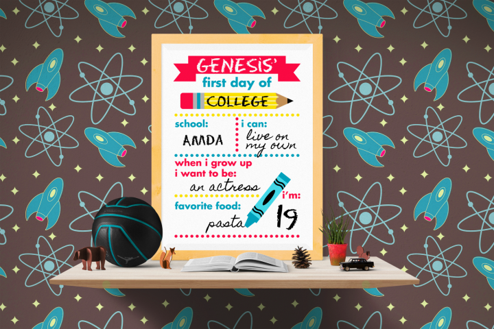 First Day of School Poster SVG, PDF, & PNG Design