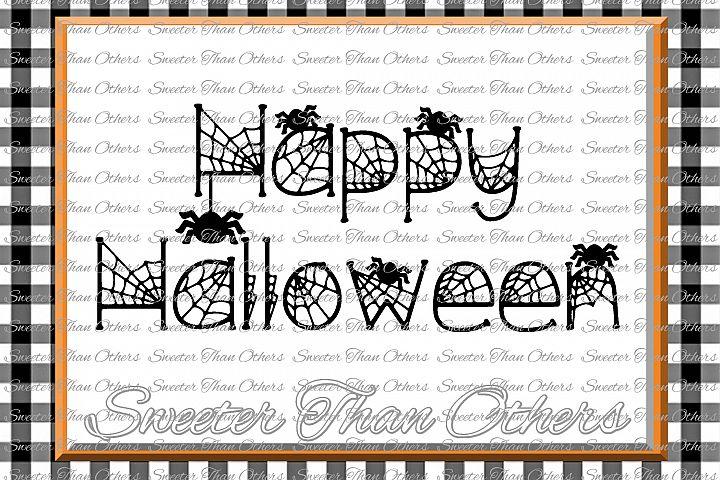 Halloween svg, Happy Halloween svg, Spiders svg