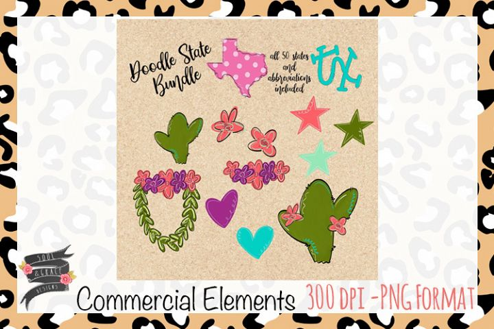 Doodle States Commercial Elements
