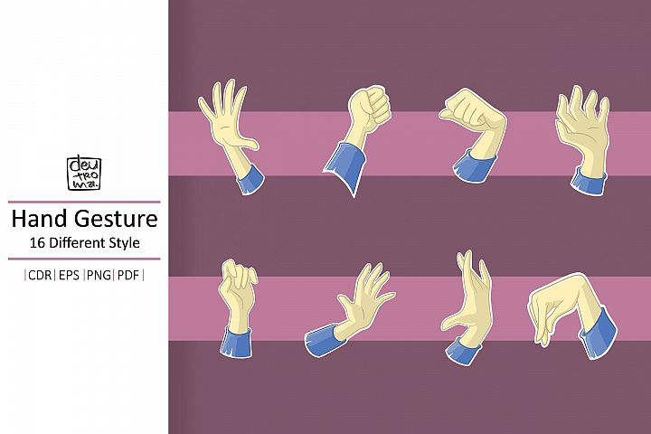 Cartoon Hand Gesture Vector - EPS CDR PDF PNG