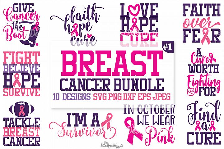 Cancer Awareness - Breast Cancer Bundle, Ribbon, SVG Design