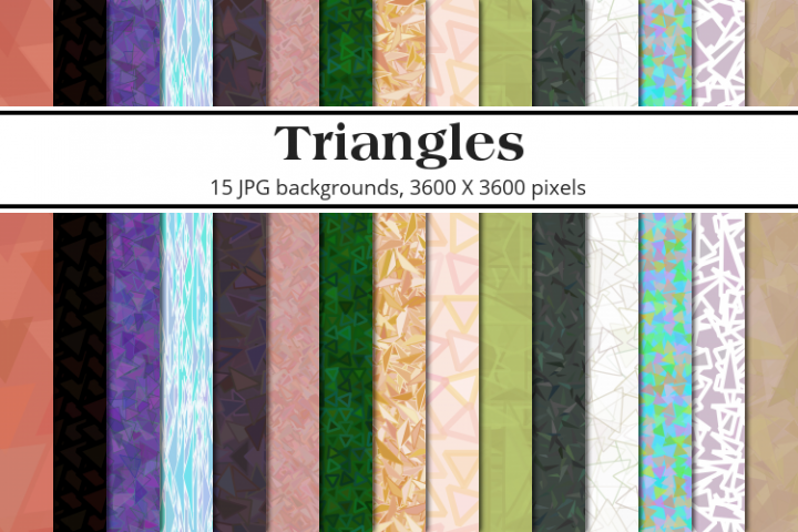 Triangles Background Pack