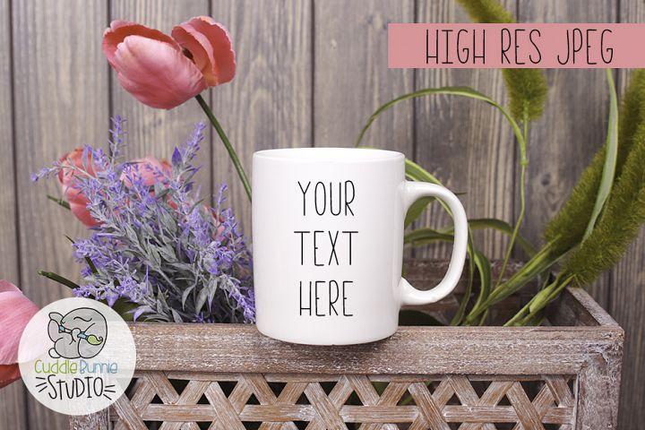 Mug Spring Mockup 1| Coffee Cup Spring Themed Mockup