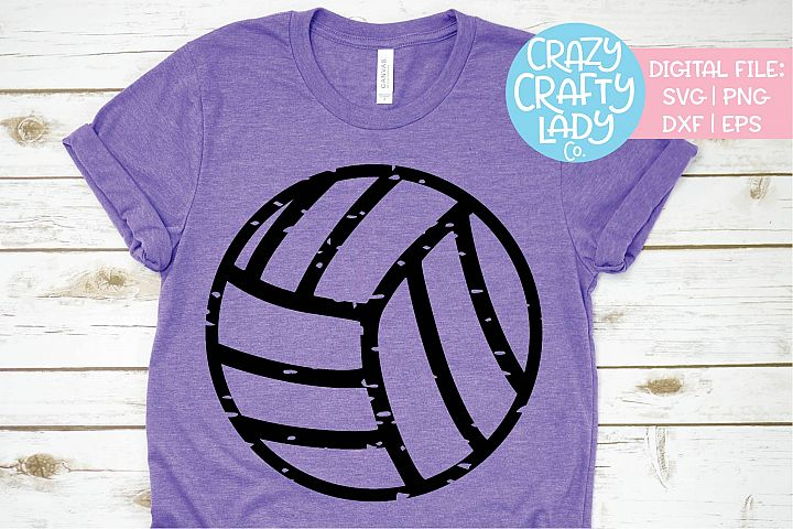 Grunge Volleyball Sports SVG DXF EPS PNG Cut File
