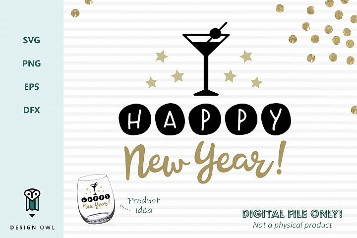 Happy New Year - SVG file