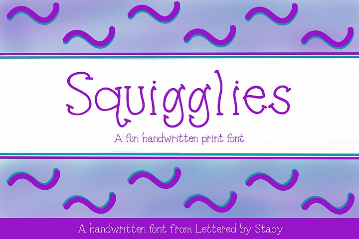 Squigglies - A fun handwritten print font