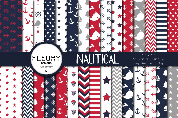 Nautical Sailor Digital Paper