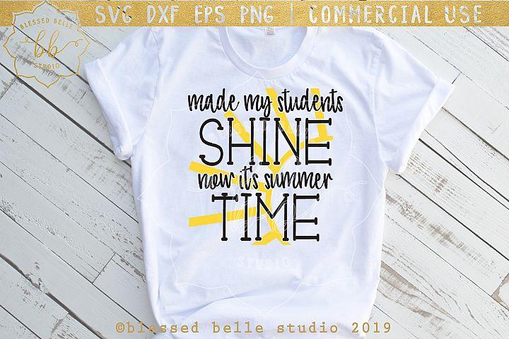 Teacher SVG DXF EPS PNG summertime svg