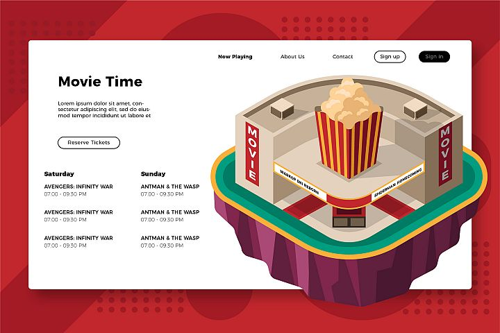 Movie Theater Time - Banner & Landing Page