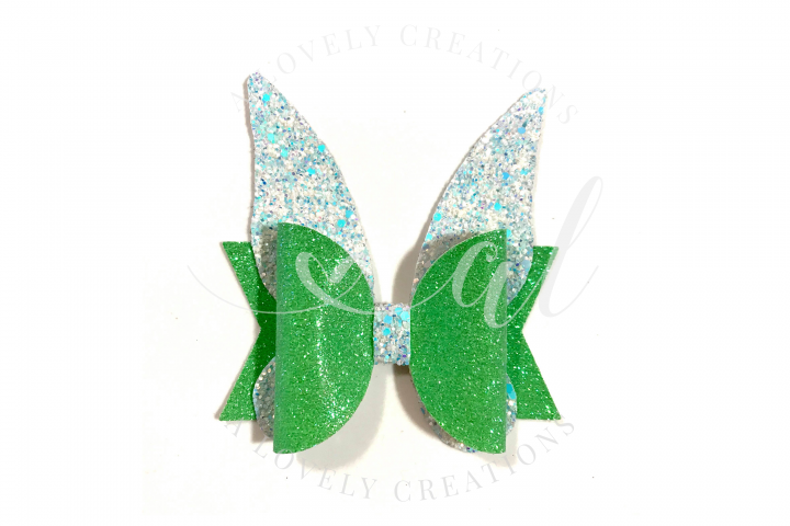 Fairy Princess Bow - Hair Bow Digital Template