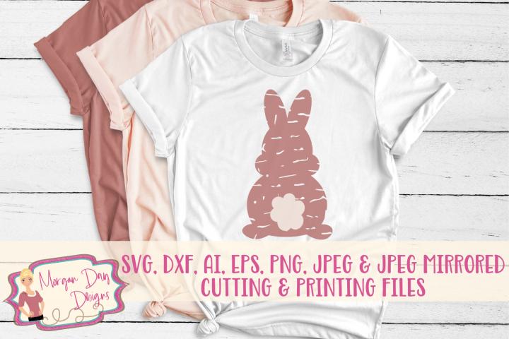 Grunge Bunny - Easter SVG, DXF, AI, EPS, PNG, JPEG