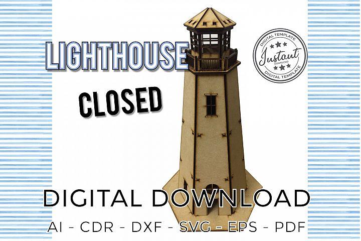 LIGHTHOUSE closed laser cut model 3d Puzzle plans