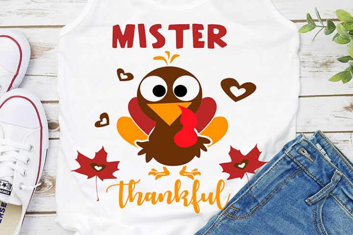 mister thankful thanksgiving svg dxf eps png