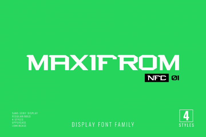 NFC MAXIMORF DISPLAY FONT