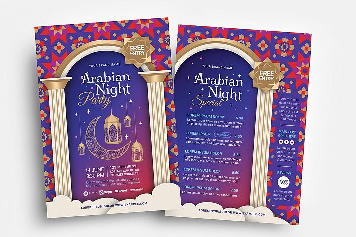 Arabic Flyer Template