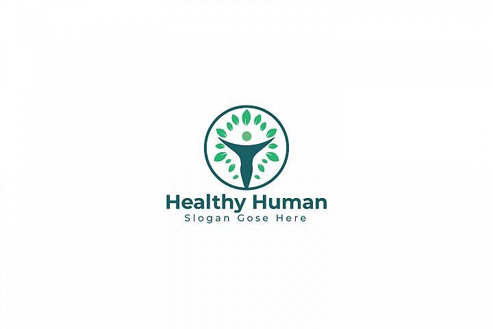 Healthy Human Logo Design.