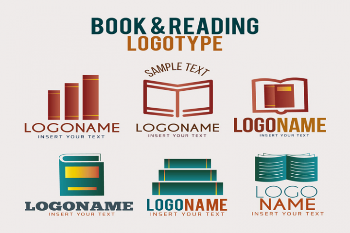 Creative book logo vector material