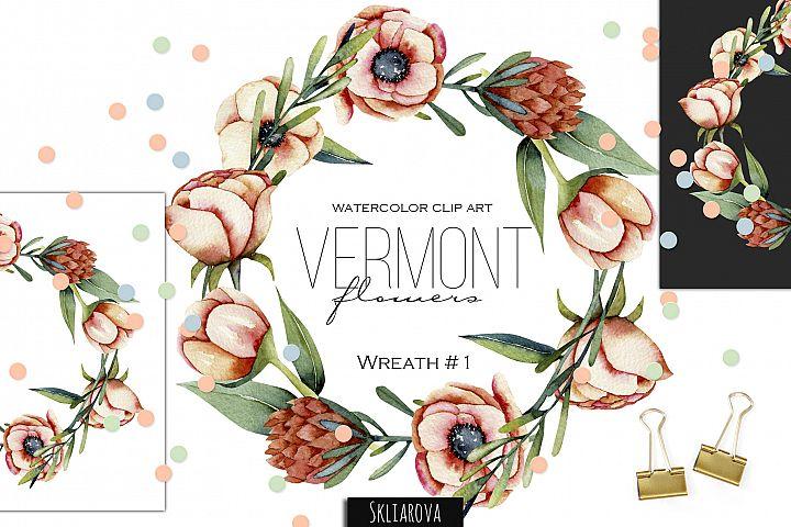 Vermont flowers. Wreath#1