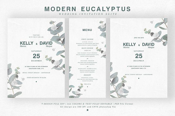 Modern Eucalyptus Wedding Suite