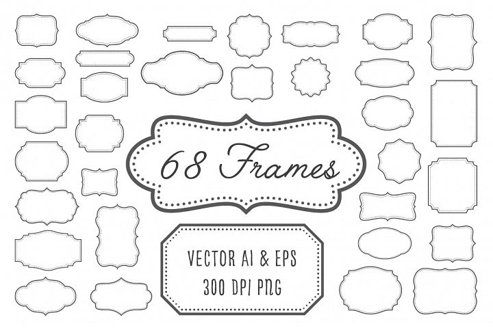 Vintage Frames, Labels, Badges