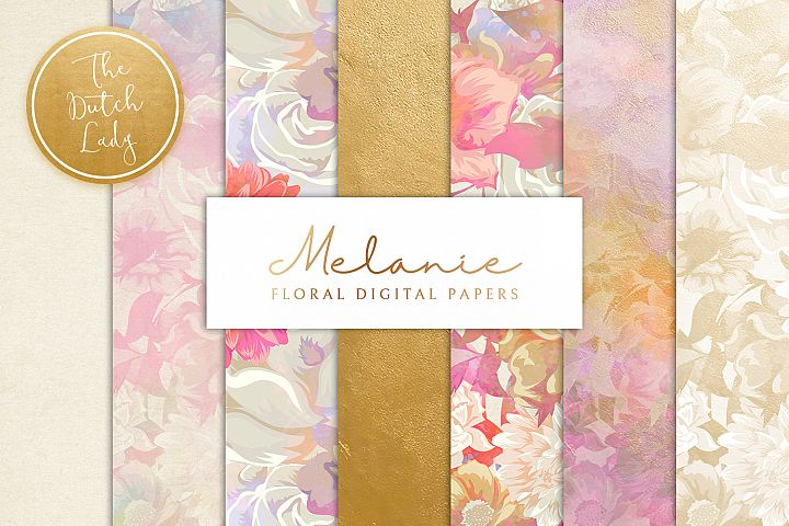Floral Backgrounds & Paper Designs - Melanie