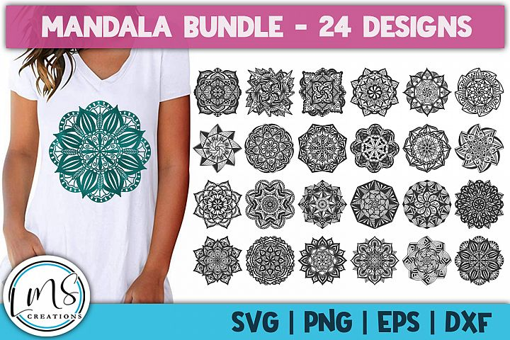 Mandala Bundle SVG, PNG, EPS, DXF