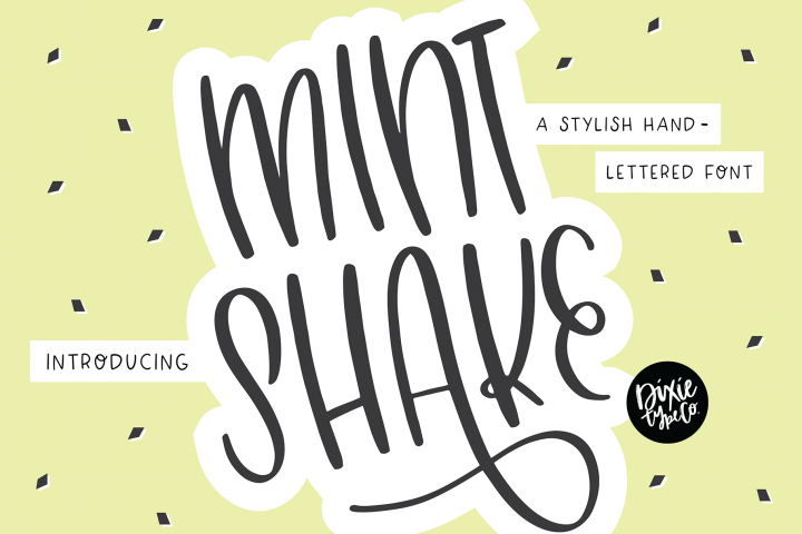 MINT SHAKE a Stylish Hand Lettered Font