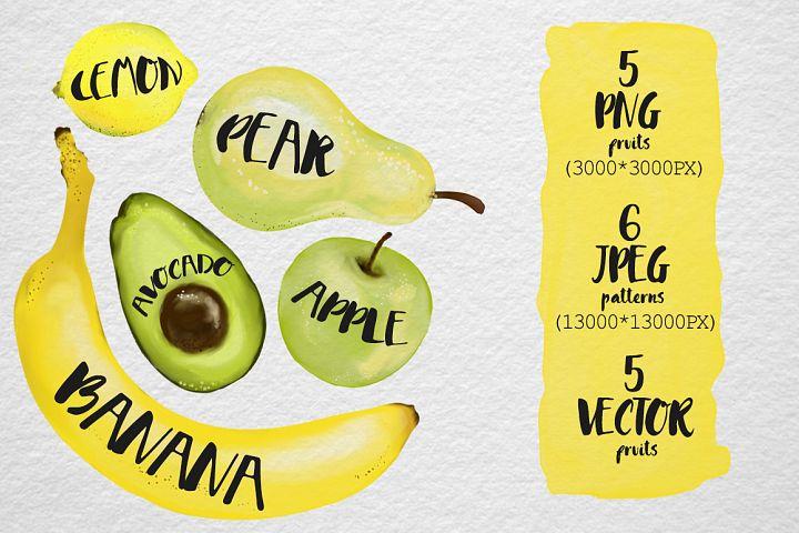 Vegan Watercolor - Free Design of The Week Design 1
