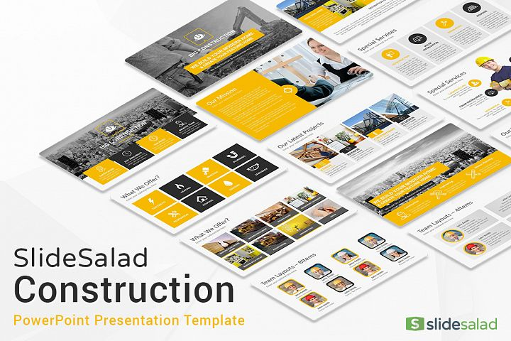 Best Construction PowerPoint Template