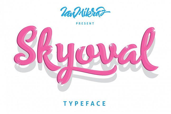 Skyoval Typeface