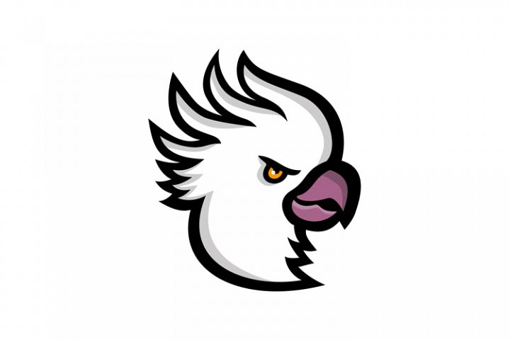 Crested Cockatoo Head Mascot