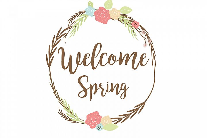 Welcome spring clip art graphic file.