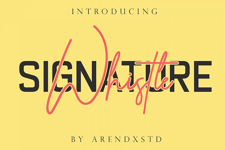 Whistle - Signature font