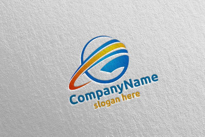 Global Modern Technology Logo Design 5