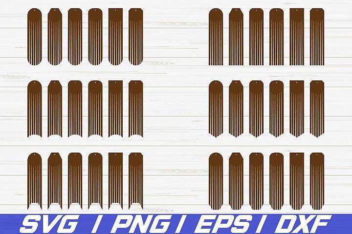 Long Fringe Earring SVG/ Fringe Earring/ Laser Cut/ Cut File